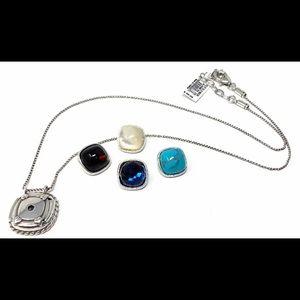 NWT Brighton interchangeable stones necklace